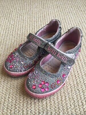 Gorgeous Lelli Kelly girls sparkly sequin shoes size 26