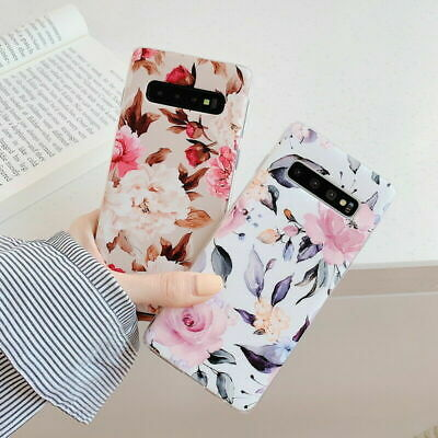 IMD Flowers Rubber Soft Case Cover For Samsung Galaxy S10 Plus S9 A40 A50 A70