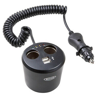 RMS10 RING AUTOMOTIVE 12v Twin Can Multisocket with Twin USB (POWERING)