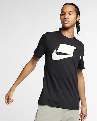 Nike Sportswear NSW Men/'s T-Shirt S M L XL Black Casual Gym Running New