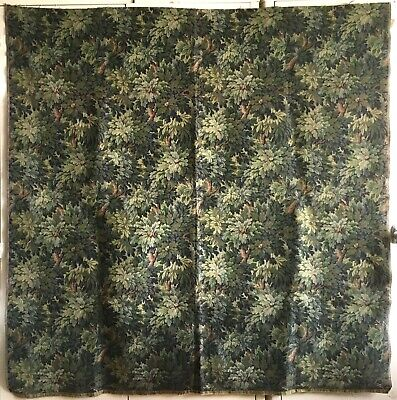 Beautiful 19th C. Belgium or France Cotton Woven Tapestry  (2871)