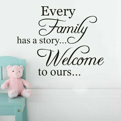 Every Family has a Story Word Quotes Art Wall Sticker Living Room Home Decor