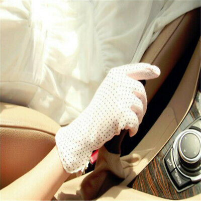 Summer Women Glove Sun UV Protection Outdoor Polka Dots Lace Driving Gloves Z