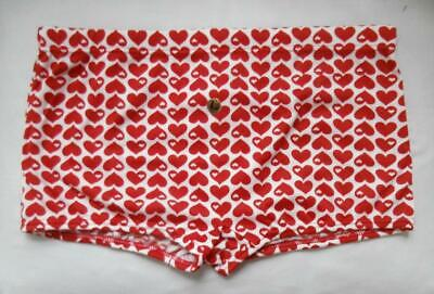 "BNIP Vintage Early 1970's Red & White Swimming Trunks Size 32"" Waist Deadstock"