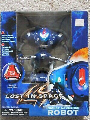 LOST IN SPACE ROBOT Rocket Launcher Action Figure 1997 Trendmasters NEW SEALED