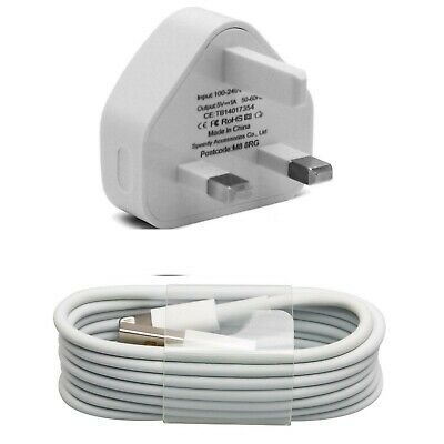 100% Genuine CE Charger Plug & Data Charging Cable Lead For iPhone X 8 7 6S iPad