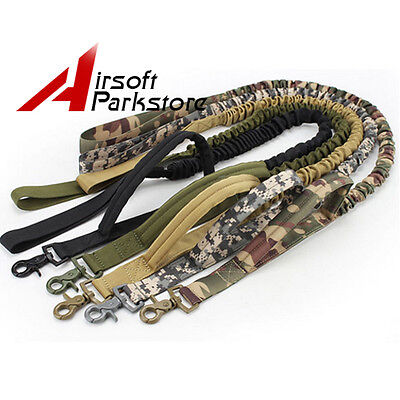 Tactical Police Dog Training Leash Belt Elastic Bungee Canine Military Strap