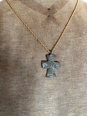 Byzantine Bronze Cross Pendant 6th Century Five Holy Wounds Appraised