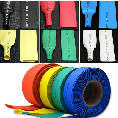 Colorful Polyolefin Heat Shrink Tube 2:1 Tubing Sleeving Weatherproof ALL SIZE