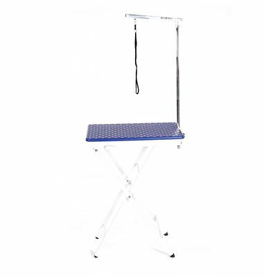 dog cat pet grooming mobile portable show exhibition competition table + arm blu