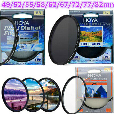 3 Type Camera Lens Filter 49-82 mm Hoya Pro1D Digital MC UV HMC UV(C) PL-CIR CPL