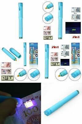 2 in 1 UV Counterfeit Fake Forged Money Note Checker Detector Tester Marker Pen