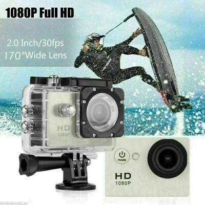 1*2019 Action Camera Sport Waterproof Ultra Hd 1080P Mini Style Noir Fra