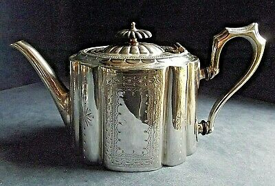 SUPERB ~ SILVER Plate ~ ORNATE Engraved TEAPOT ~ c1890 by James Dixon