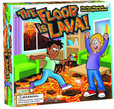 The Floor is Lava! Interactive Board Game for Kids and Adults (Ages 5+) Fun