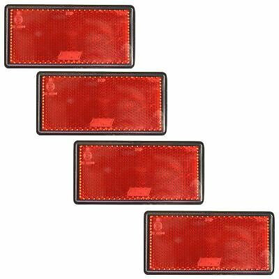 Red Large Rear Reflector 4 Pack Trailer Fence Gate Post Self-Adhesive TR212