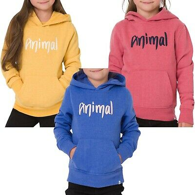 Animal Girls Kids Childrens Rachelle Pullover Sweatshirt Hoodie Hoody Top