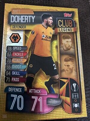 Match Attax 2019/20 Matt Doherty Club Legend No 295