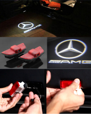 2X Mercedes-Amg Door Ghost Laser Projector Logo Courtesy Led Light