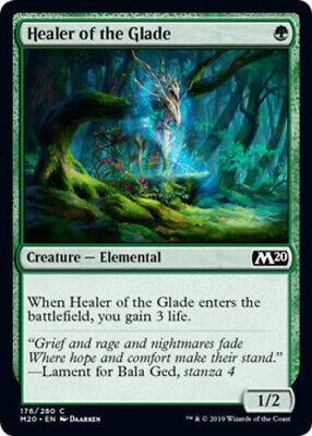 MTG Magic 1x Light Play, English Healer of the Glade - Foil Core 2020 Fast Shipp