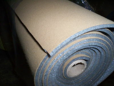 "50"" x 60"" Foam Backed Headliner Auto Upholstery Fabric Saddle FREE Shipping"