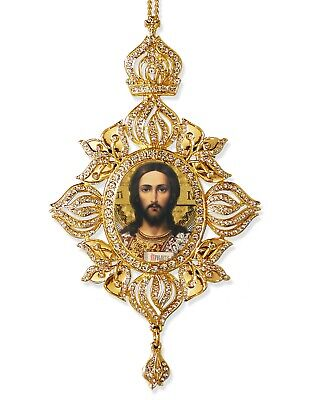 Jesus Christ Icon Pantocrator Byzantine Ornament Room Decoration Christmas Gift