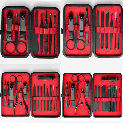8/18 PCS Pedicure / Manicure Set Nail Clippers Cleaner Cuticle Grooming Kit Case