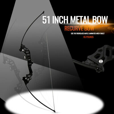 """40lbs Archery 51"""" Recurve Bow Takedown Hunting Bows Right Hand Longbow Shooting"""