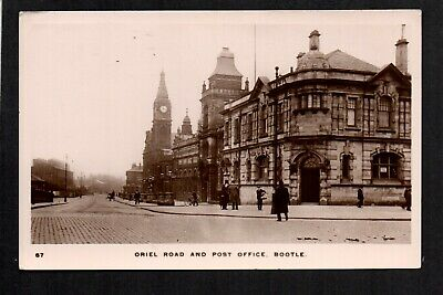 Bootle, Oriel Road and Post Office - near Liverpool - real photographic p/card