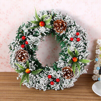 Tree Decoration Christmas Wreath Ornament Wall Hanging Door Garland Pine Window