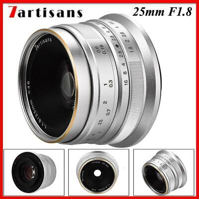 7artisans 25mm F1.8 Manual Focus Prime Fixed Lens for Canon Mirrorless Cameras