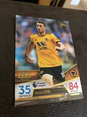 Match Attax - Ultimate 2018/19 - Base # 100 Diogo Jota - Wolves