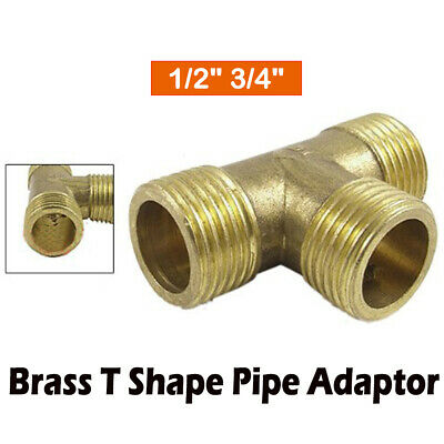 Tee 3 Way T Shaped BSP Equal Female Thread Brass Connector Pipe Fittings Adapter