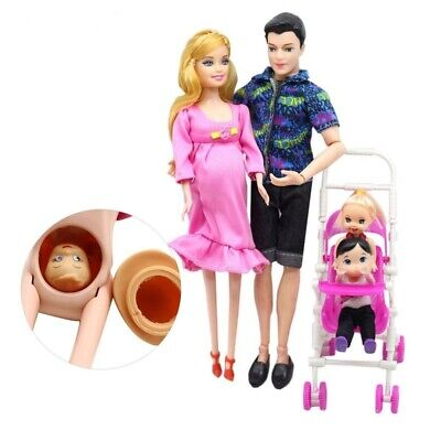 Family Dolls Pregnant Mom Doll Dad Baby Toy Children Beautiful Toys Xmas Gifts