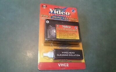 Vhs C Camcorder Video Head Cleaner Tape Kit Wet Type