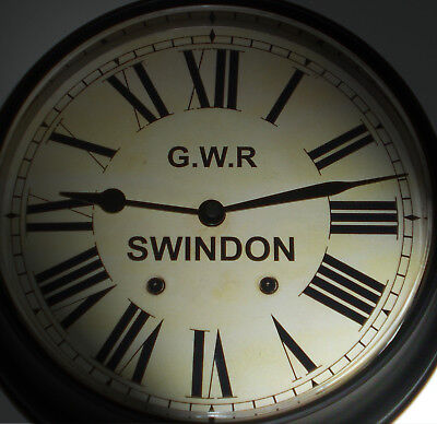 Great Western Railway, GWR Victorian Style Waiting Room Clock, Swindon Station