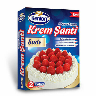 whipped cream for cakes and deserts for topping - 2 pack just add milk and whisk
