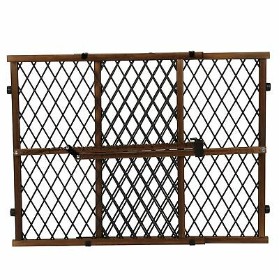 Evenflo Position and Lock Dark Wood Farmhouse Safety Baby Pressure Mount Gate