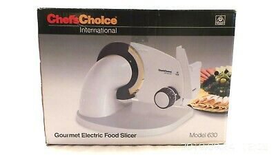 Chefs Choice International GOURMET Electric FOOD SLICER model 630 NEW !