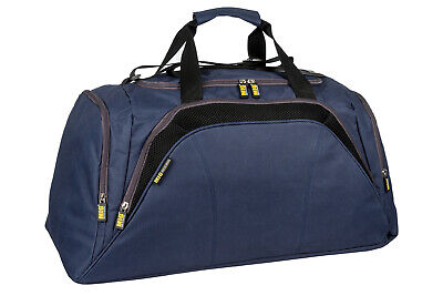Mens Large Navy Sports & Gym Duffle Holdall Bag SPORTS TRAVEL WORK / MIG 26