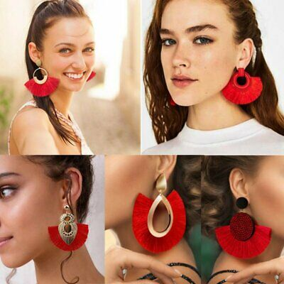 Bohemian Large Long Tassel Fringe Dangle Earring Women Jewelry Party Statement