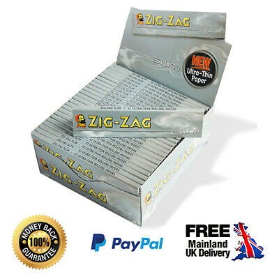 Zig Zag Silver King Size Ultra Thin Rolling Papers Rizla Smoking (1-50 Booklets)