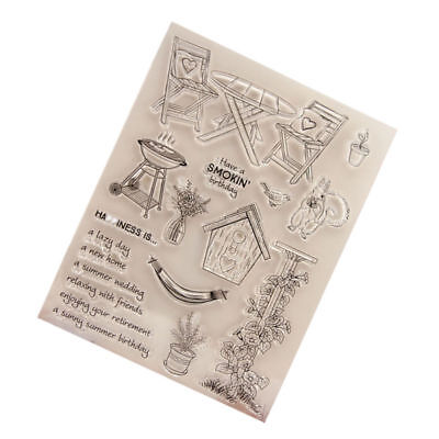1pc Clear Stamp Silicone Transparent Stamps for DIY Decoration Craft Card Making