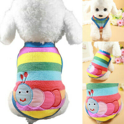 Puppy Vest Small Teacup Dog Clothes Velvet Coat Chihuahua Pets Winter Apparel