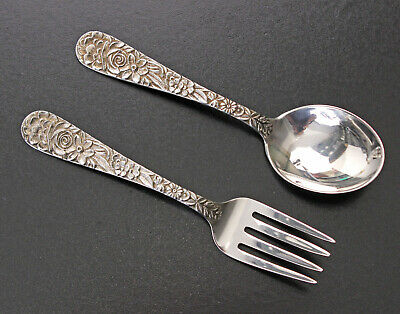 Kirk Sterling REPOUSSE Baby Spoon & Fork Set