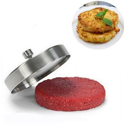Kitchen Non-Stick Hamburger Press Burger Meat Beef Grill Patty Maker Mould RF