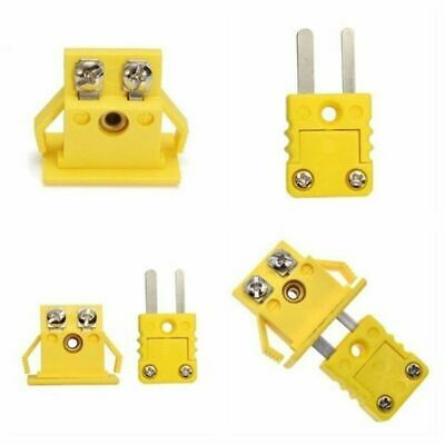 Mini Cable Wire Panel Mount K-type Thermocouple Socket & Plug Connector In Stock
