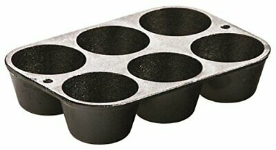 Lodge Cast Iron Cookware Muffin/Cornbread Pan Pre-Seasoned Nonstick 6 Impression