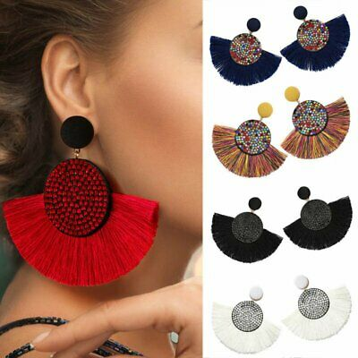 Bohemian Large Long Tassel Fringe Dangle Earring Women Jewelry Statement Gifts