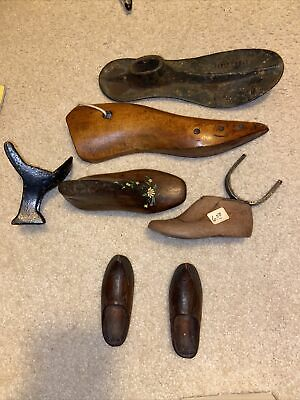 Lot of Vintage Wooden Shoe Lash. Large Assortment. Wood and metal